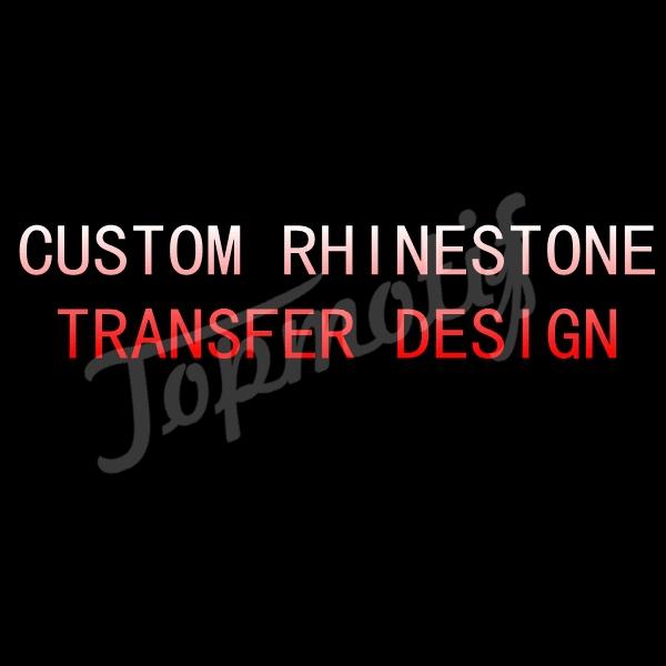 Custom Rhinestone Transfer Design,Free Shipping DHL,Heat Transfer Rhinestone Motif,Iron On Strass Motif(China (Mainland))