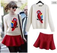 free shipping new In autumn 2014 new arrive sweater coat+ skirt type ladies suit jackets women women coat