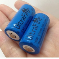10pcs Ultrafire Li-ion Rechargeable 16340 Battery 3.7V 1200mAh for LED torch/flashlight/Digital Camera
