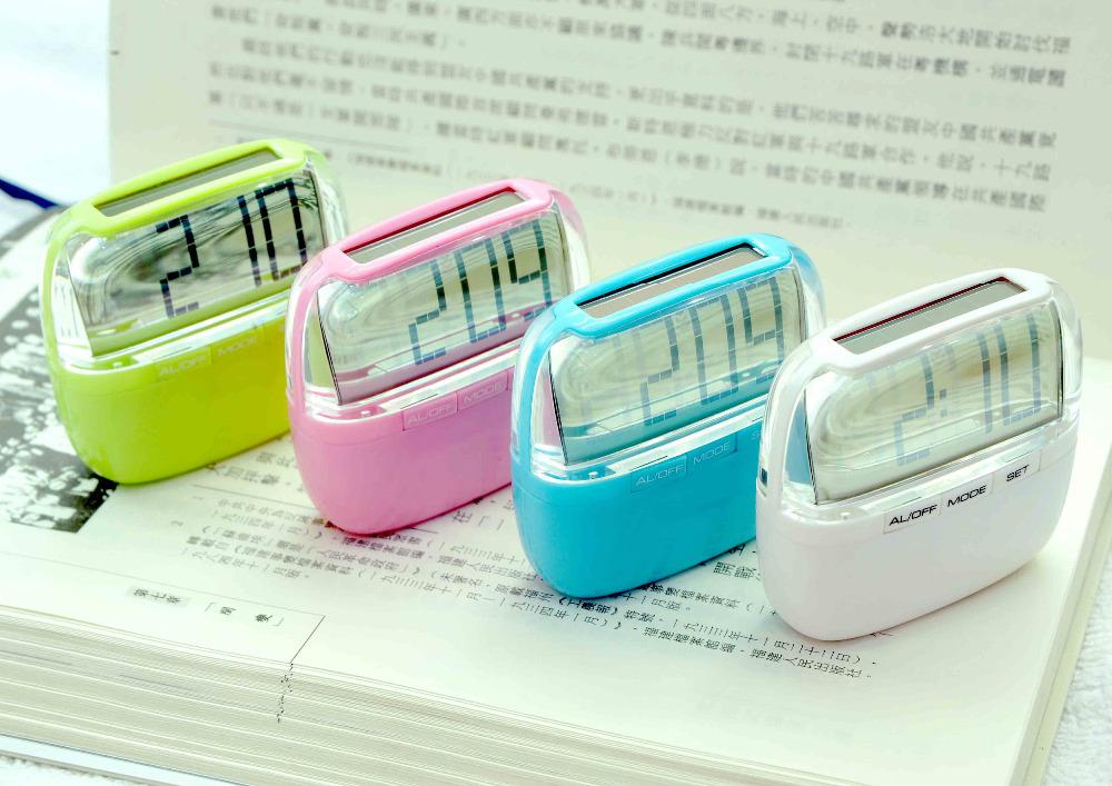 JK-7718 Solar desk clock/crystal desk clock/small digital desk clock(China (Mainland))