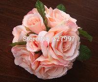 Rose camellia silk flower bouquets wedding accessories centerpiece bridal bouquets decorative flowers home decoration casamento