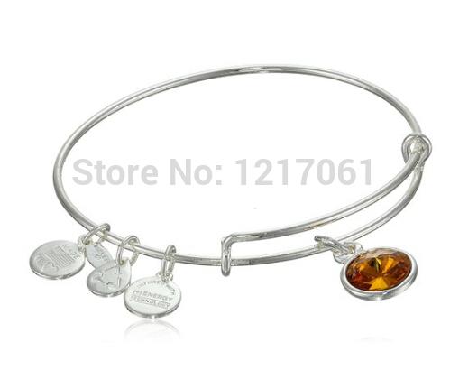 "Free shipping!!!Alex and Ani ""Bangle Bar"" November Birthstone Bangle Bracelet Expandable Wire Bangle gift(China (Mainland))"
