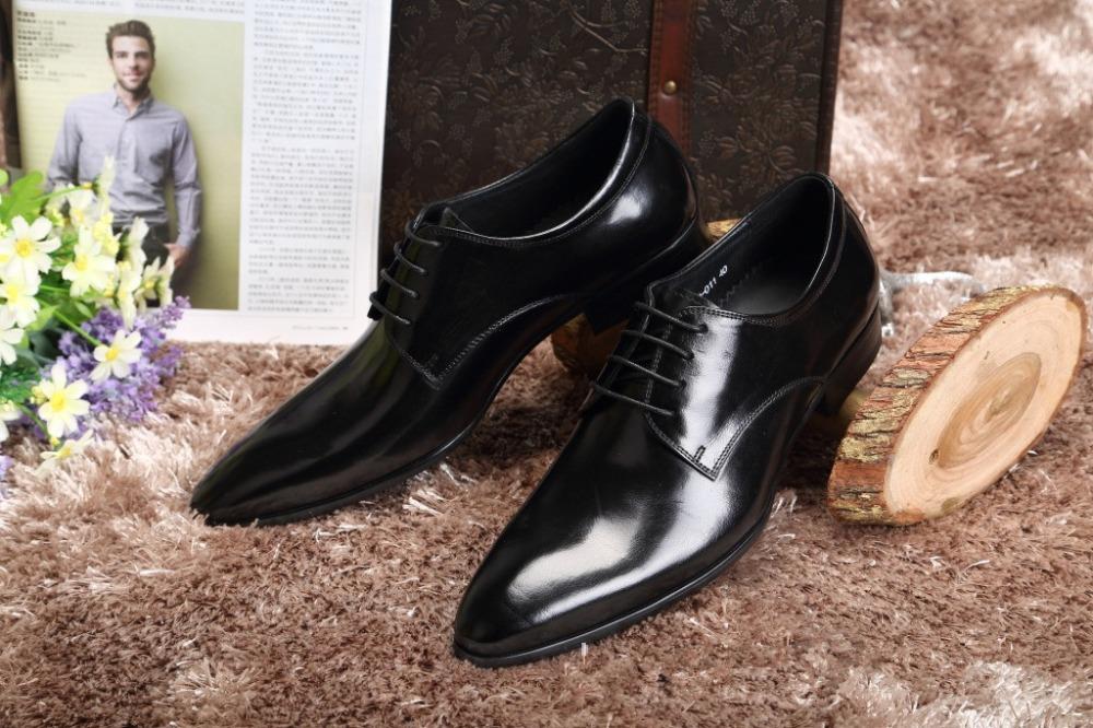 Plus Size 37-46 Personalized Iron Pointed Toe Fashion Men Wedding