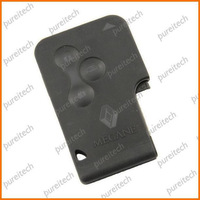 free shipping renault megane cards shells fobs case replacements with logo car remote key wholesale