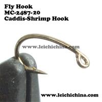 SIZE 20, 500 pieces 20# fly tying hooks fly fishing hooks Caddis-Shrimp Fly Hooks Free shipping
