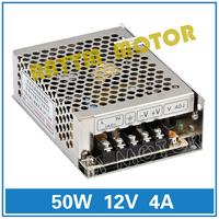 Small volume of 50W 12V switching power supply 86V-264V AC to DC 12V/4A Model MS-50-12
