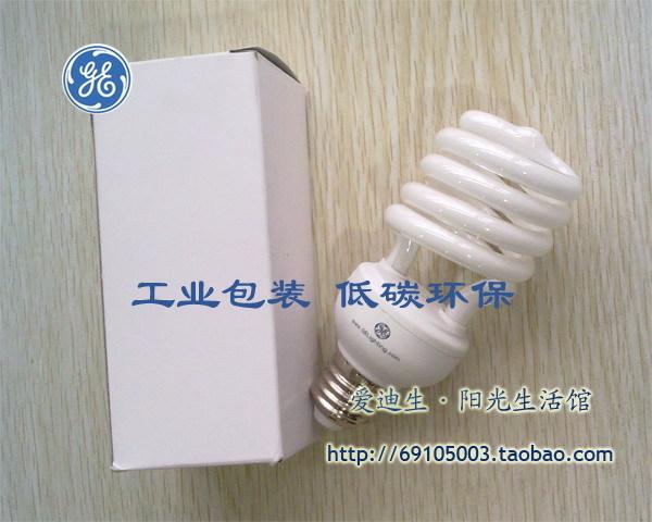 GE Lighting 24 Watt E27 Base CFL Light Bulb - Compact Fluorescent - - 100 W Equal - 4000K Cool White - 80 CRI(China (Mainland))