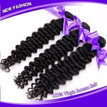 Rosa hair products peruvian deep wave,5A peruvian deep wave virgin hair bundle deals 3or4 pcs/lot freeshipping,virgin deep wave(China (Mainland))
