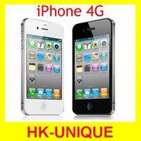 Unlocked original iphone 4G 8GB / 16GB / 32GB mobile phone WIFI GPS 5MP camera Black&White in sealed box free shipping