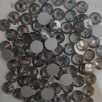 SS6(1.9mm) 1440pcs Glitter 3d Nail Art Rhinestones Glass Decorations Non Hot Fix Flatback Nail Tools Crystal Black Diamond 003