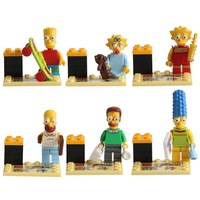 free shipping 60pcs/lot Building Blocks Sets Anime Movie The Simpsons Action Figures Minifigures Bricks Blocks