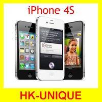 Original Unlocked iPhone 4S Mobile Phone 16GB 32GB 64GB ROM Dual core WCDMA 3G WIFI GPS 8MP Camera free shipping