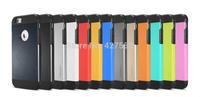 100pcs wholesale Newest  tough slim armor hybrid PC+TPU Spigen SGP II Case for  Iphone 6 case