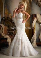 2014 New white/ivory mermaid wedding dress Gown custom size AL6726