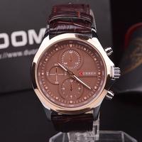 2014CURREN Brand Men Leather strap Watches,Fashion Quartz Military Waterproof Wristwatch