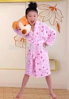 Children coral cashmere pajamas coral velvet robe bathrobe coral velvet tracksuit unisex bathrobe