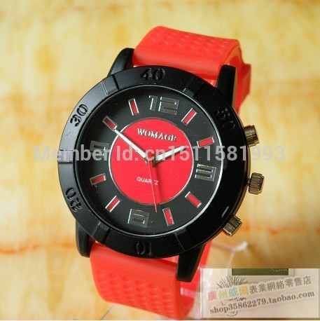 EF high quality gift Hot new single product soft silicone strap watch fashion watch Round atmosphere(China (Mainland))