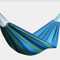 Outdoor thick canvas hammock single dormitory casual swing Weight 0.7KG  Load 125KG