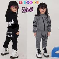 2014 new arrival children clothing set coat + pants fashion boys girls clothes brand kids suit children Sport suits 5sets/lot