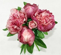 5Bundles Romantic peony wedding bridal bouquet silk flower bridesmaid home decoration centerpieces elegant bouquets 2014