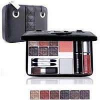 2014 new Make-up box travel suit pressed powder concealer lip gloss eyelash  eye shadow eyeliner, blush brush,eyebrow pencil