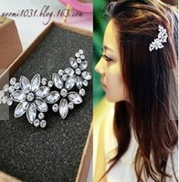 Free Shipping Fashion Crystal Women Hairpin Luxury Wedding Jewelry A1R13 (Hot Selling)