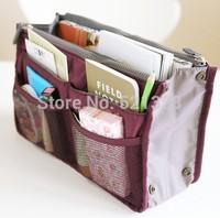 Dual Zipper Portable Multifunction Storage Bag Cosmetic Bag Thickening Hand bag Free Shipping bp093
