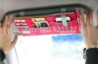 Multifunctional Sun Visor Storage Bag Car Notes Pouch CD Receive Bag DVD Disk Card Visor Case Holder Clipper Bag