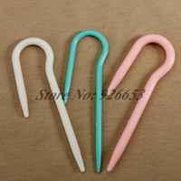 1 Set 3 pieces Plastic Crochet Hook Hand Knit Knitting NeedlesCraft DIY Tool Free Shipping
