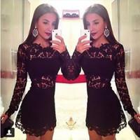 New 2014 Women Dress Black Sexy Lace Bandage Dress Hollow Out Club Evening Party Dresses Vestido De Renda Lace Floral Dress 2508