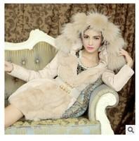 High Quality Oversized fur collar Slim Korean winter jackets women warm winter coat fur coat women winter