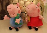 2014 brand new 2pcs baby kids Peppa pig plush toys George pig dolls Pepa/Pepe/Pink/Pepper pig toys sale for christmas birthday