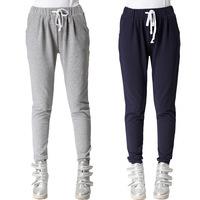 XL- 4XL 2014 Autumn Ladies Fashion Plus Size XXXL Cotton Loose Trousers Star Print Elastic Waist Slim Women Casual Pants