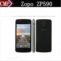 Free 3 Gifts Zopo ZP590 4.5 Inch MTK6582 Quad Core Android 4.4 IPS 960X540 1GB RAM 4GB ROM 5MP Dual Sim 3G GPS Mobile Phone