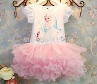 Retail children clothes kids clothing, girls tutu dresses, girl summer frozen fish scales dress