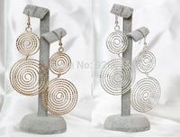 ZH0963 New 2014 Fashion accessories drop earrings for women Double big circle earrings