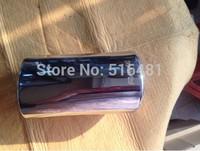 Tip 7.5cm Inlet Silver Stainless Steel Exhaust Resonator Muffler For 2014 RAV4