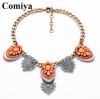 New vintage retro brand jewelry big gold filled leaf pendant necklaces for women 2014 shourouk party gift cc friends choker goth