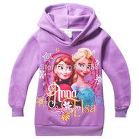 Winter Thickening Warm Girls Clothing Frozen Elsa children hoody/jacket/sweatshirt for Brand Cartoon Baby Kids Roupas Infantil