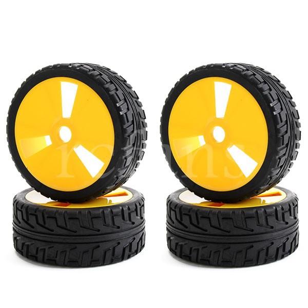 4PCS 1:8 Off-Road RC Car Buggy 17mm Hub Wheel Rim and Tires A7A1(China (Mainland))