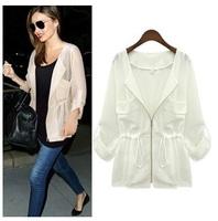 free shipping autuman new arrived 2014  women's  Fashion jackets women big size Sunscreen shirt women coat