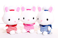 Plush pendant wholesale 3pcs 20cm lovely sailor navy rabbit wedding little cupula doll children prize girl gift stuffed toy