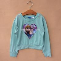 Child's clothing children's girls' long sleeve t-shirt cartoon top Little Spring GTJ-S0378