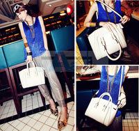 Three colors Free shipping Hot Ladies Crocodile Print PU Leather Satchel Clutch Handbag Shoulder Bag Tote