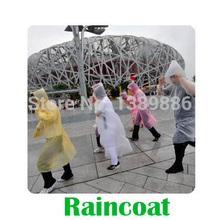 1pc/lot Disposable Raincoat Adult Emergency Waterproof Hood Poncho Travel Camping Must Rain Coat Unisex(China (Mainland))