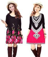 Plus Size XXL XXXL 4XL Plus Size Causal Winter Dress For Women Oversized Sweater Dress Women's Wool Cotton Long Sleeve Dresses