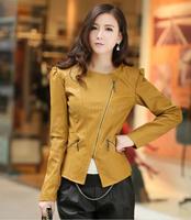 2014 Fall Fashion Women Coat Hitz PU leather jacket jaqueta de couro feminina