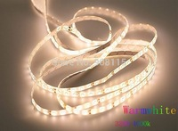 New IP65 Waterproof LED strip light ribbon single color 5 meters 300 pcs SMD 5050 DC 12V smd5050 White/Warm White/Cool White