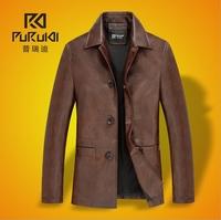 casual black winter leather jacket men brown mens motorcycle jacket bomber jacket jaqueta de couro masculina 2XL 3XL BW5