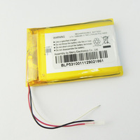 Original  SP523450  3.7V 1000mAh  Li-polymer Rechargeable Battery with wire